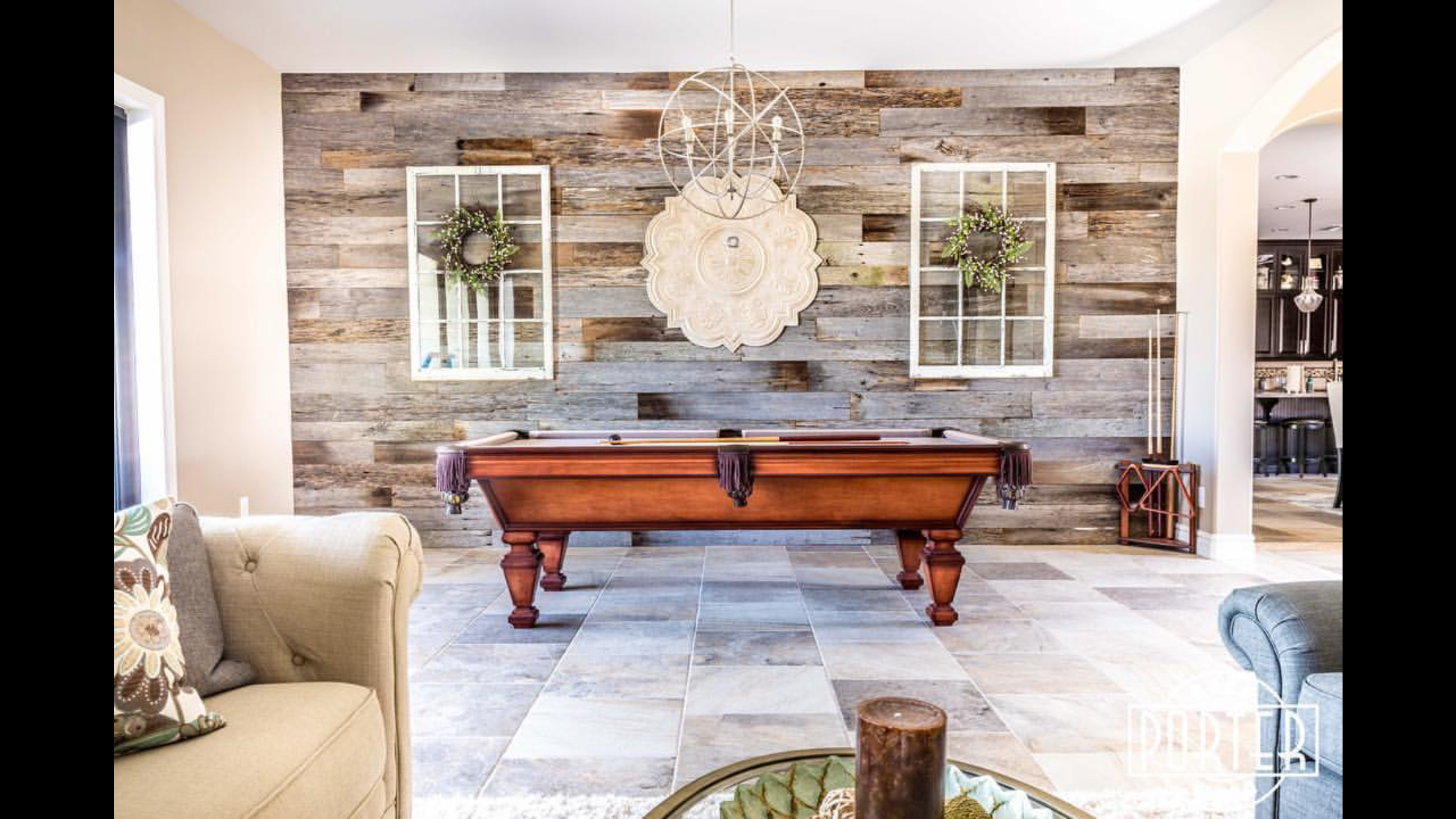 Pin By Aubrey Odom On For The Home With Images Wooden Accent Wall Barn Wood Rustic Dining Table