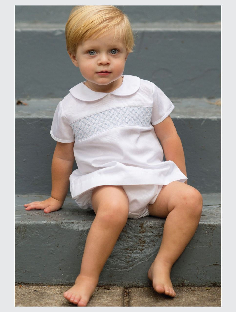Baby Boys Short Sleeve Smocked Outfit By Pixie Lily Boutique Infant