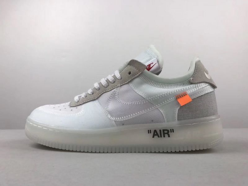 separation shoes 08a9e fb873 Mode Unisex Nike Air Force 1 Low Off White blanc Youth Big Boys Shoes