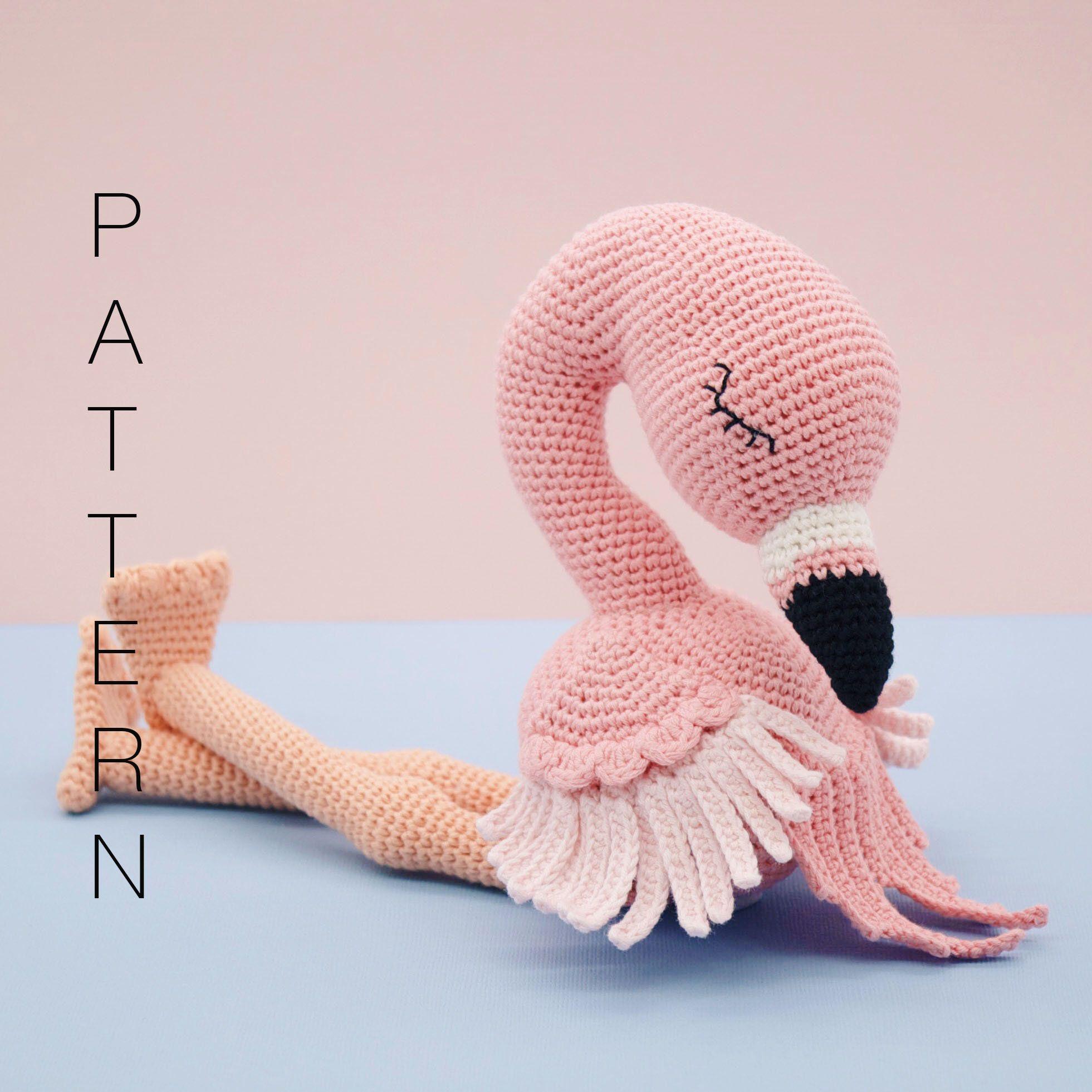 Amigurumi Crochet Pattern English Flo The Flamingo Etsy Cheer
