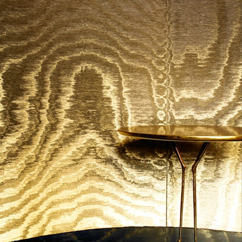 Love This Glam Gold Moire Wallpaper From Artes Carapace Collection