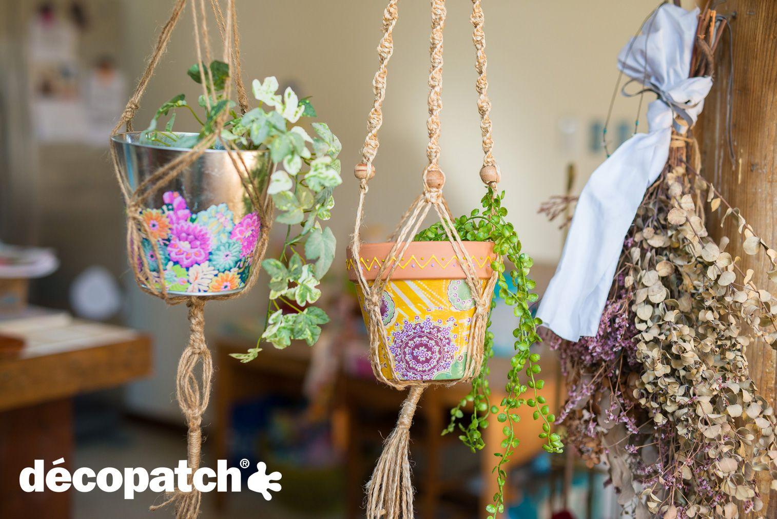 [IDEE'CO] Pots de fleurs #DIY #Customisation #Decopatch #Flower #Spring #Printemps