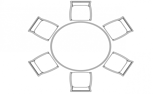 Plan Of A Round Table And 6 Chairs Round Table Chair Table