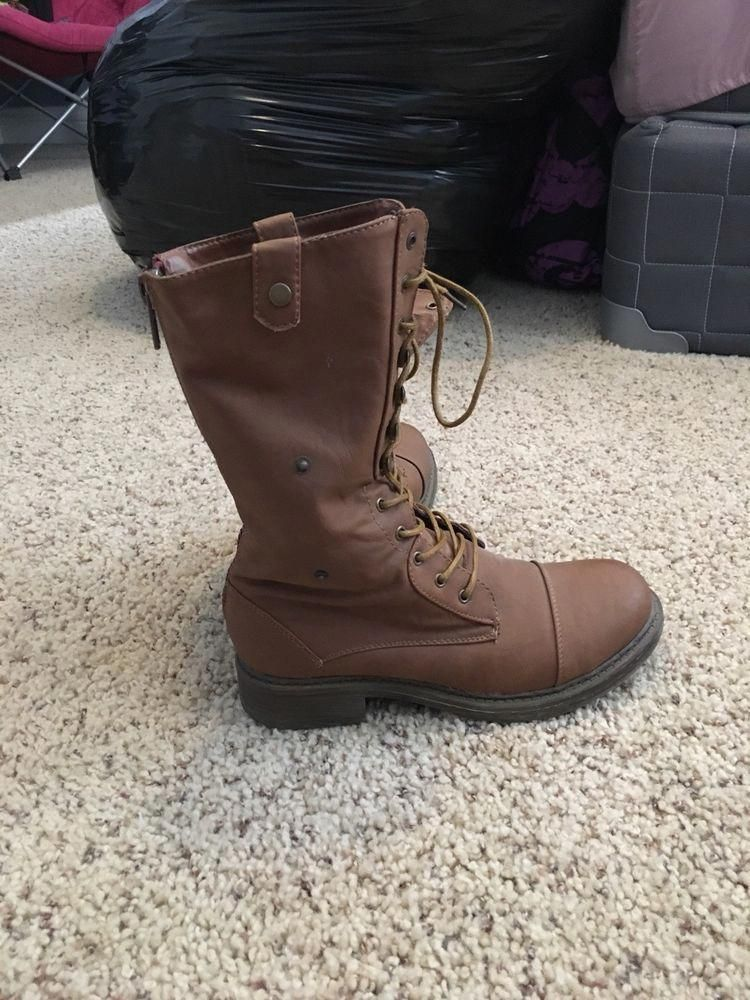 sports shoes 3bc59 dacf3 womens combat boots size 8  fashion  clothing  shoes  accessories   womensshoes  boots (ebay link)  WhatDoWomensshoesSayAboutThem