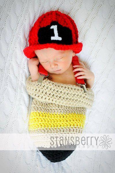 Newborn Infant Pink or Red Fire Helmet Crochet Hat | Pinterest | Muster