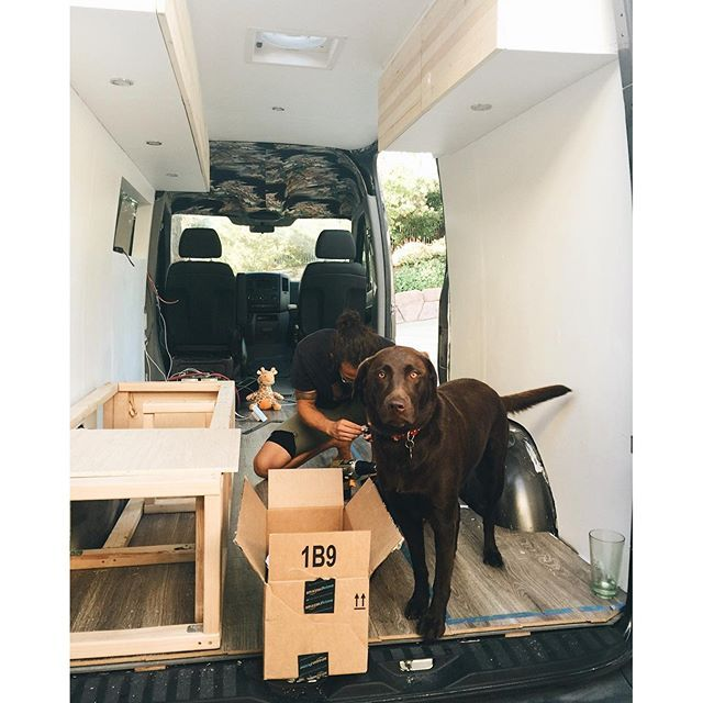 DIY Sprinter Van Conversion Benches For Table Bed Workspace