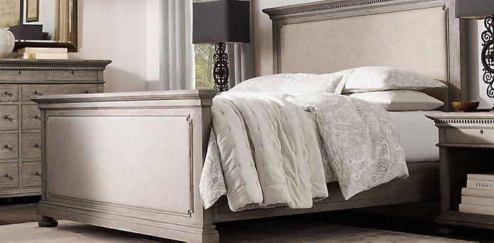 St James Collection Antiqued Grey Oak Rh Unique Bedroom Furniture Bedroom Art Above Bed Traditional Bedroom Furniture