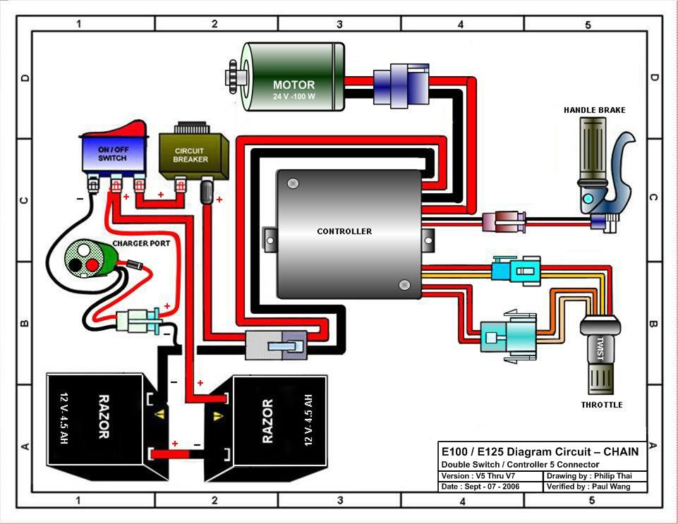 E-300 Razor Electric Scooter Wiring Diagram
