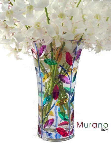 Murano Glass Vase And Arrangement From Beneva Flowers Murano Glass