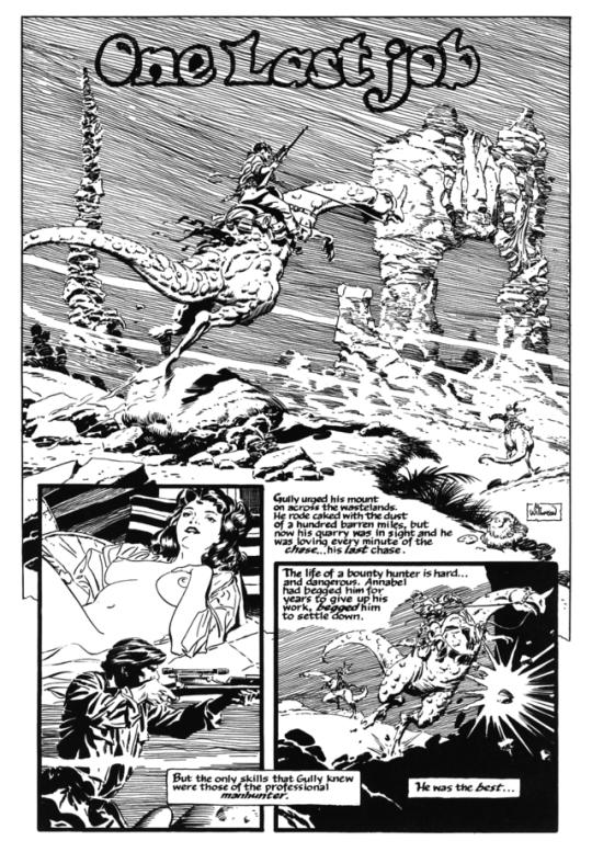 One Last Job By Mark Schultz And Al Williamson From Dark Horse Presents 120 1997 Bristol Board Comic Book Artwork Comic Book Pages