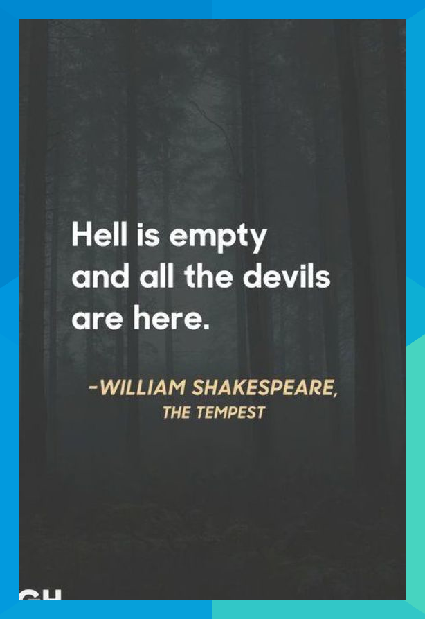 William Shakespeare The Tempest Scary Quotes Eddrickbank1982 Scary Quotes Shakespeare Funny Funny Quotes