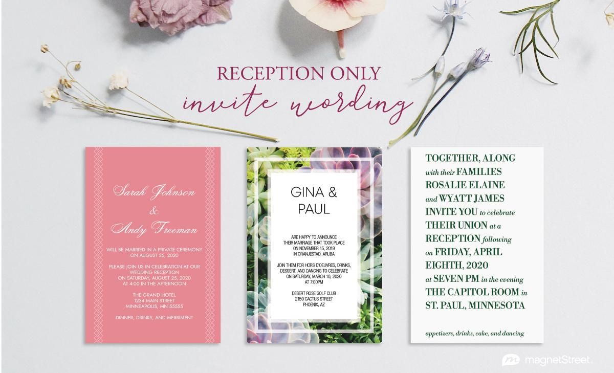 Reception Only Invitation Wording With Images Wedding