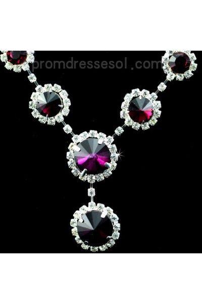 costume jewelry for weddings purple | ... Jewelry on Flower Romance Purple Rhinestones Drop Bridal Jewelry Sets