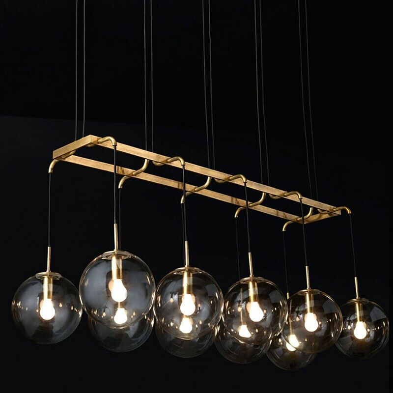 LED Island Lighting Chandelier Restaurant Ceiling Lamp Glass Globe Pendant Light