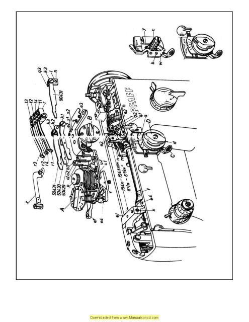Pfaff 230 332 Automatic Sewing Machine Service Manual Manual Guide
