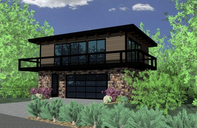 Modern Two Story Small House Plan with Garage