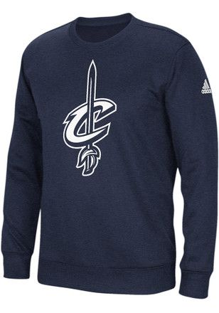 finest selection 3f2c4 278e6 Adidas Cleveland Cavaliers Mens Navy Blue Team Issue ...