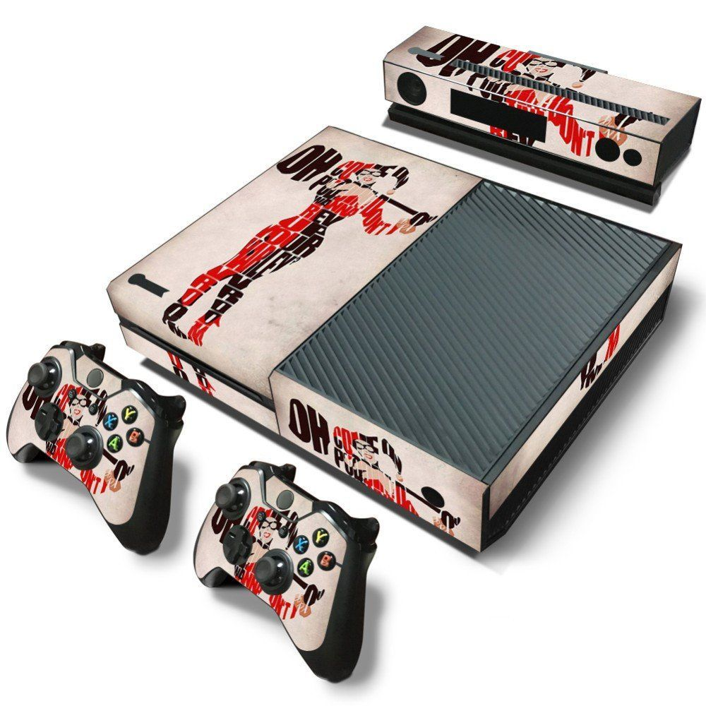 Harley quinn xbox one skin sticker baseball batter harley quinn baseball batter harley quinn pvc skin sticker product specifications xbox one console 2x controller sciox Image collections