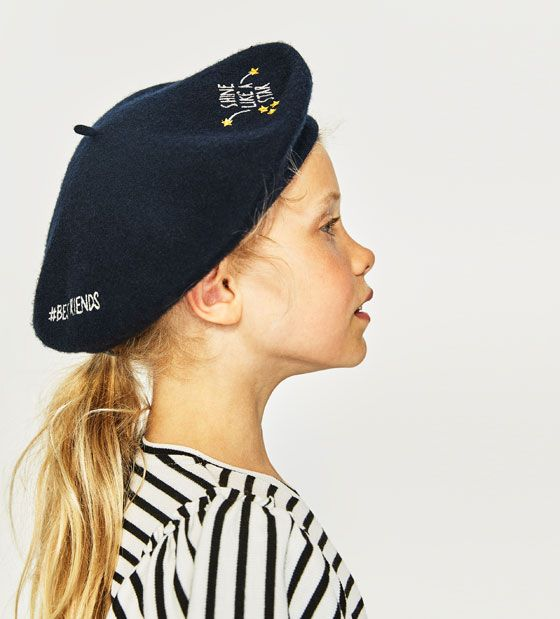 12992946 Image 1 of EMBROIDERED BERET from Zara | Mini-Me Fashions | Beret ...