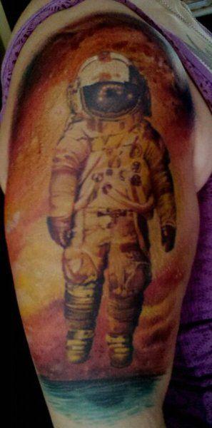 """""""I bet we laugh."""" Spaceman tattoo ! i like :)"""