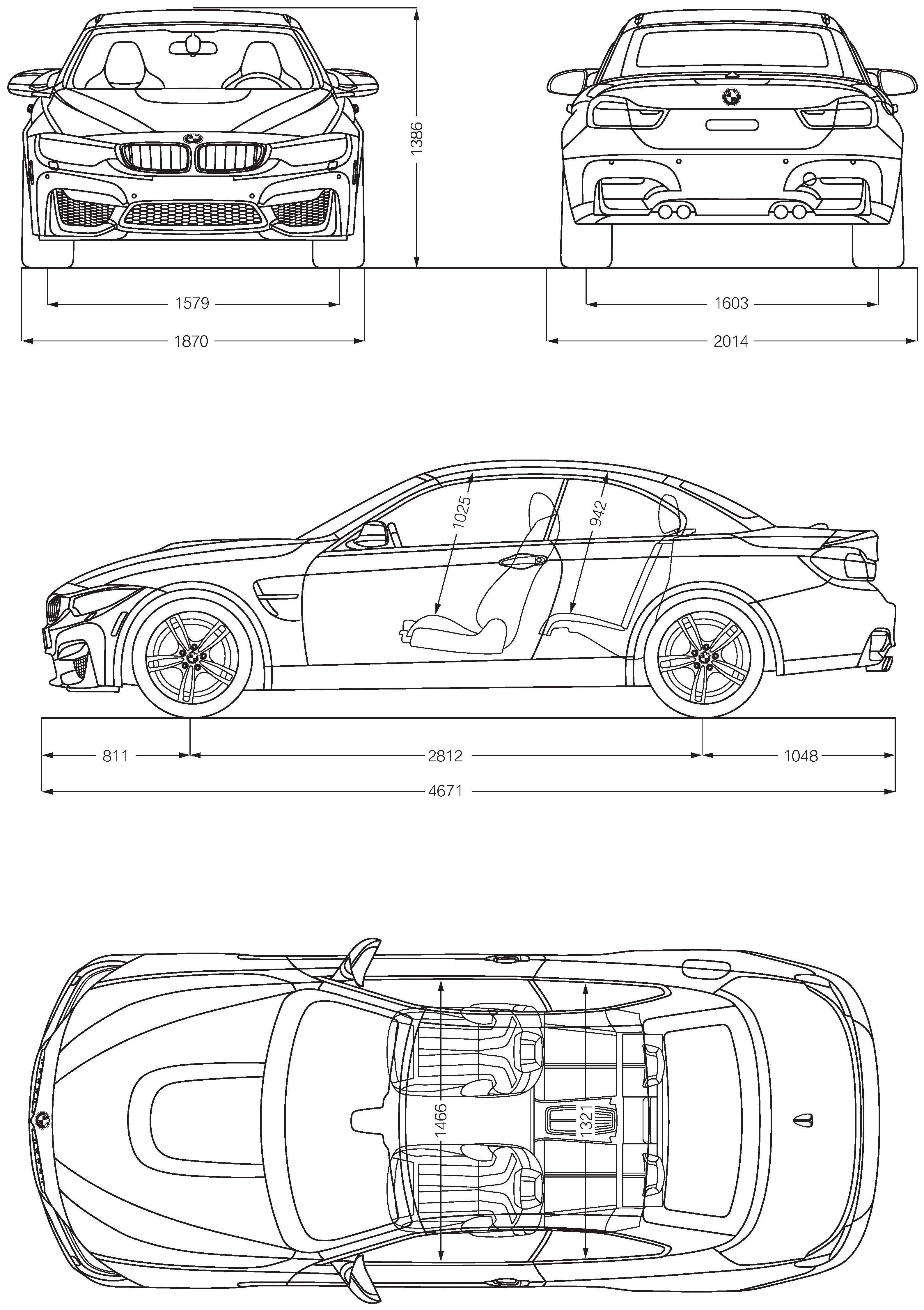 Bmw M4 Blueprint Blueprints Pinterest Bmw Bmw M4 And Bmw M4
