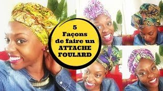 Chacha Afrolife - YouTube - 5 attachés foulard facile et rapide - https://www.youtube.com/watch?v=_kYy_mdLics