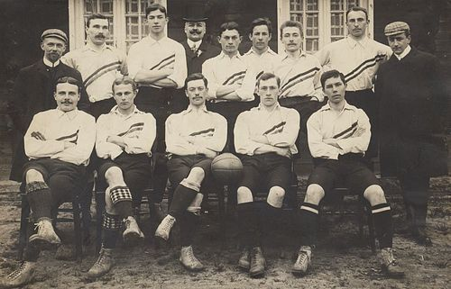 I find pictures of pre-WWI football (soccer) teams to be very charming. This is the 1905 Dutch national team.