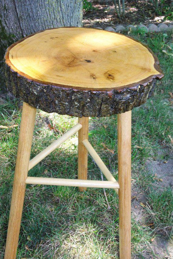 Oak Tree Bar Stools Tree Stump Stools Bar By CSomethingBeautiful, $75.00