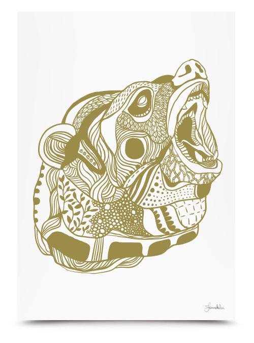 Bear Print by Janne Kunttu