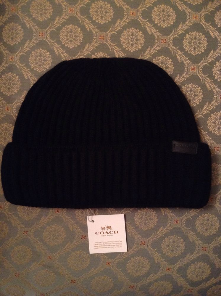 767a9d54513 Coach New York Black Cashmere Beanie Hat Brand New With Tag in Clothes