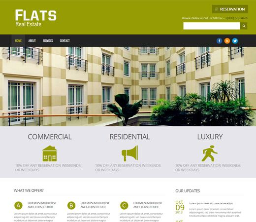 Mobile Website Templates Free Website Template Css Html5 Flats A Real Estate Mobile Website