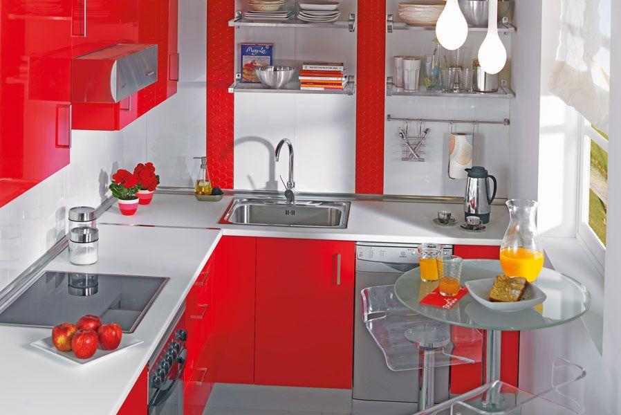 cocina mini leroy- rojo blanco | Cociña | Pinterest | Inspiración de ...