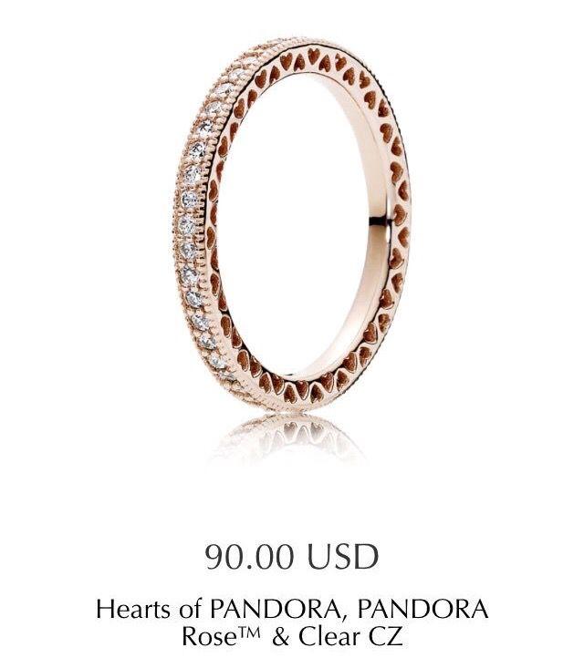 99b382175 Pandora   C: Jewelry   Pandora rose gold rings, Promise rings ...