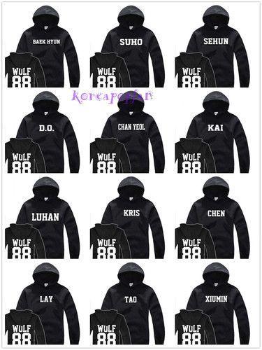 Forever Younger Kpop EXO Manche Longue Sweat-Shirts Cardigans Sweatshirts Tricots en Maille l/âche Baekhyun Sehun Chanyeol Kai Xiumin