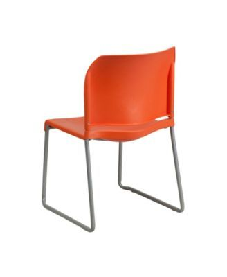 Black Offex Contoured Back Ergonomic Stack Chair with Sled Base