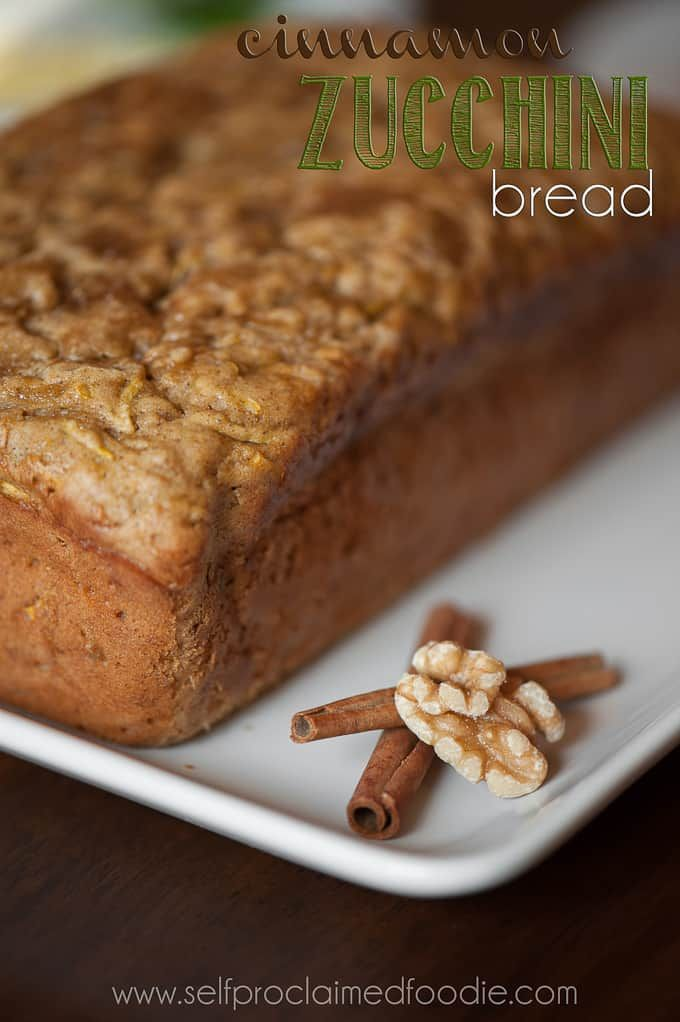 cinnamon zucchini bread  self proclaimed foodie  bread