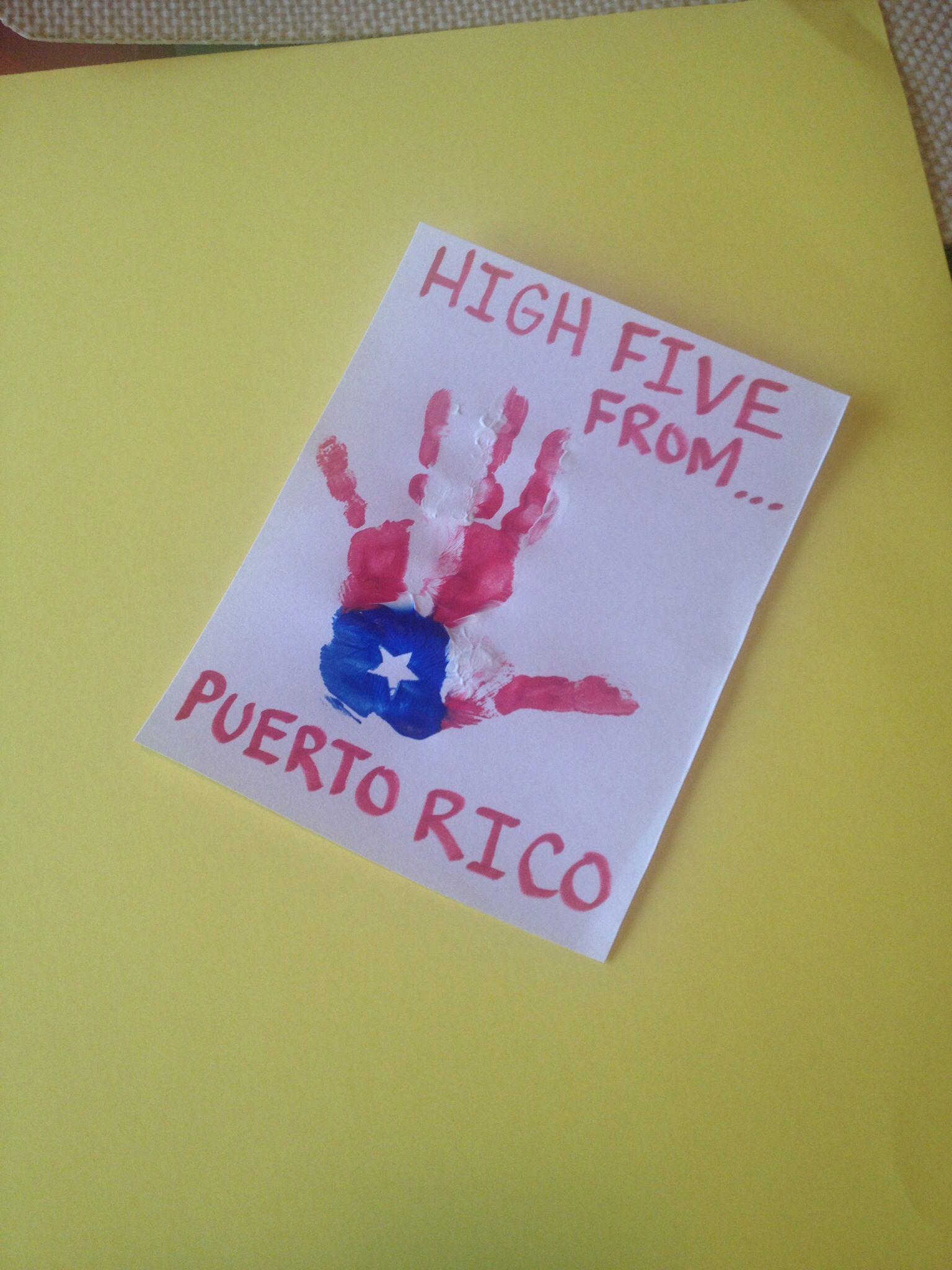 Cultural Diversity Puerto Rico Handprint