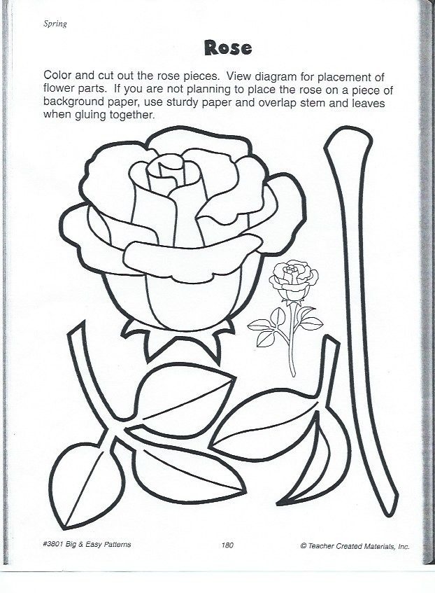 rose flower template color page kids craft and science of all ages - fresh dltk birds coloring pages