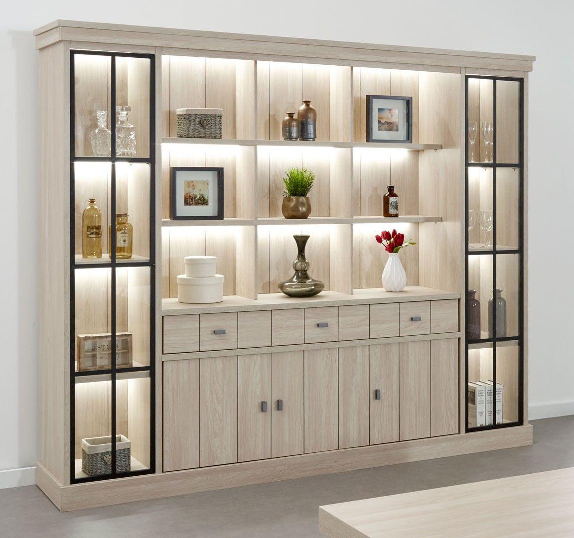Bibliotheque Contemporaine 250 Cm Coloris Orme Naturel Vaucluse Matelpro Home Room Design Interior Design Dining Room Living Room Design Modern