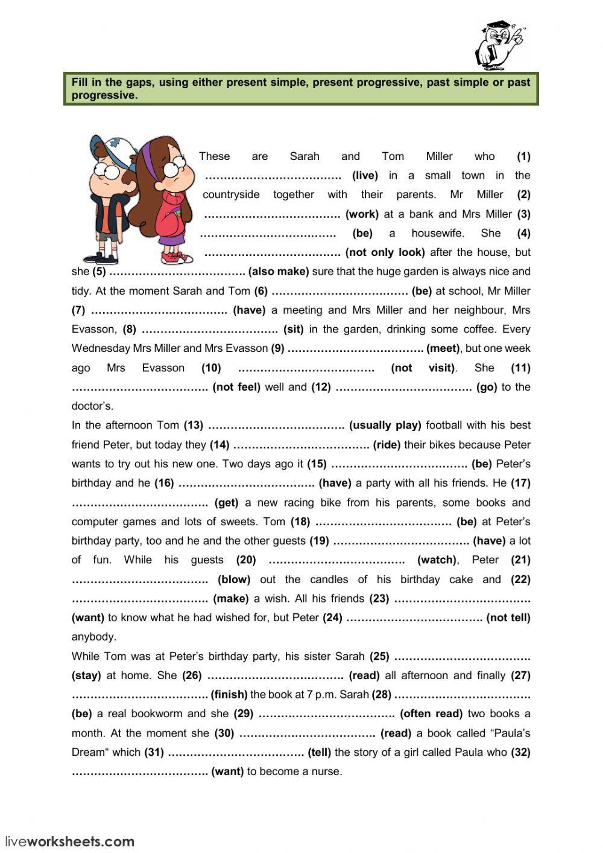 Present Simple Progressive Past Simple Progressive Interactive Worksheet English Grammar Worksheets Past Tense Worksheet Verb Worksheets [ 1413 x 1000 Pixel ]