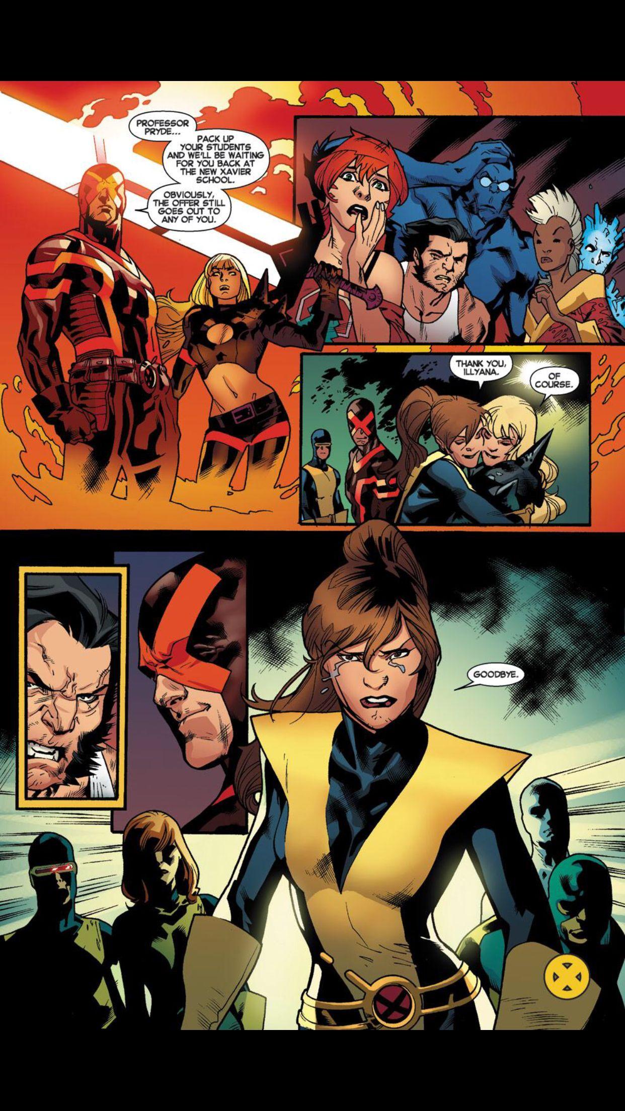 X Men Battle Of The Atom Kitty Pryde Cyclops X Men Comic Art