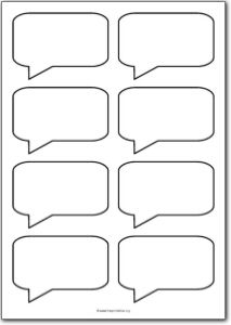 8 Blank Square Speech Bubbles Free Printables Free Printable