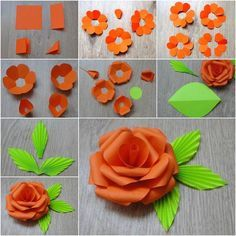how to make paper flowers with construction paper for kids - Google Search