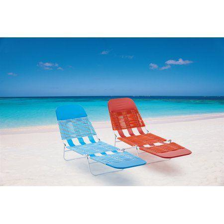 Mainstays Folding Jelly Beach Lounge Chair Walmart Com