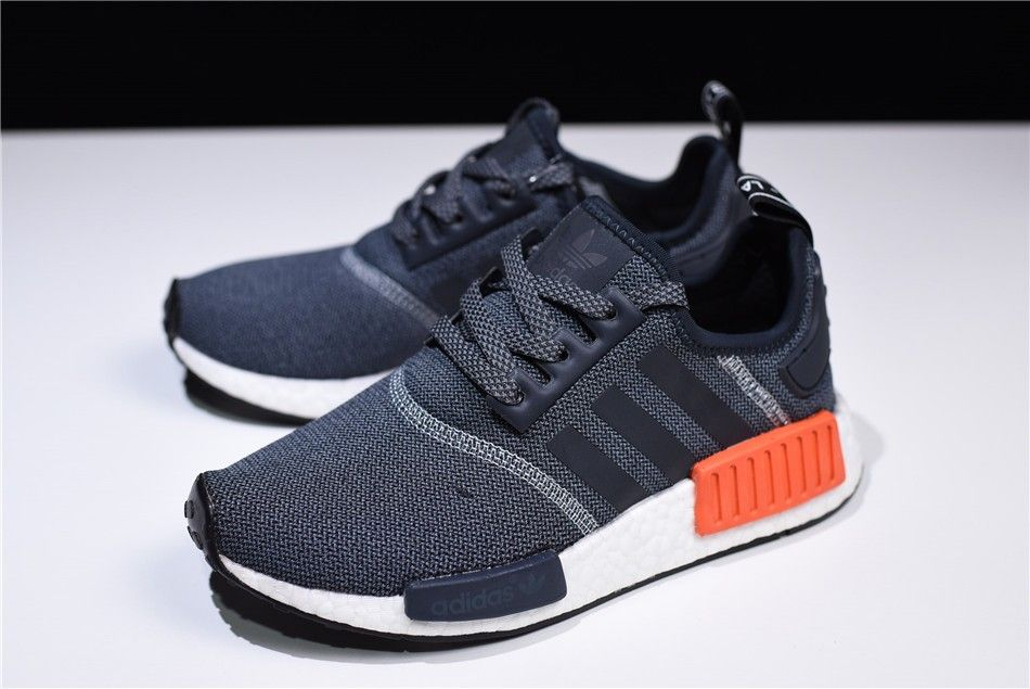 low priced 38554 e54cb adidas NMD R1 Dark Grey/Semi Solar Red Men's Running Shoes ...