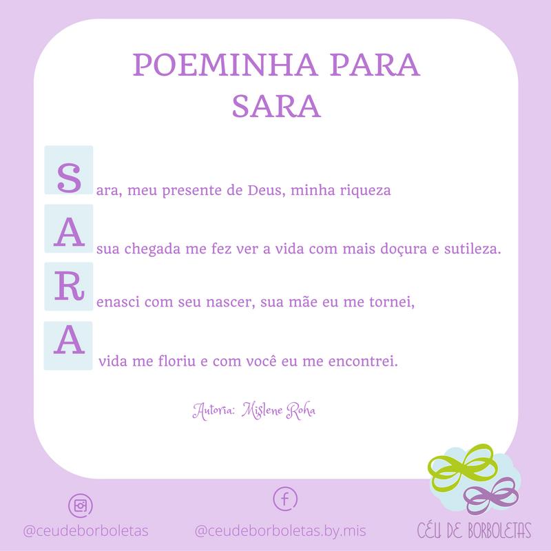Poeminha para Sara