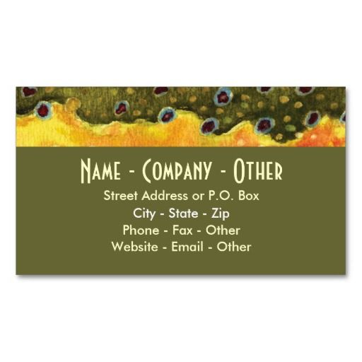Trout fly fishing business card fishing business cards pinterest trout fly fishing business card colourmoves