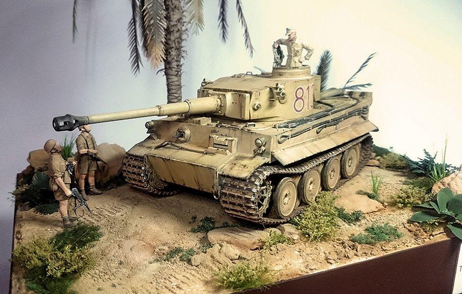 Tiger I, Tunisia, 1943 — Каропка ру — стендовые модели