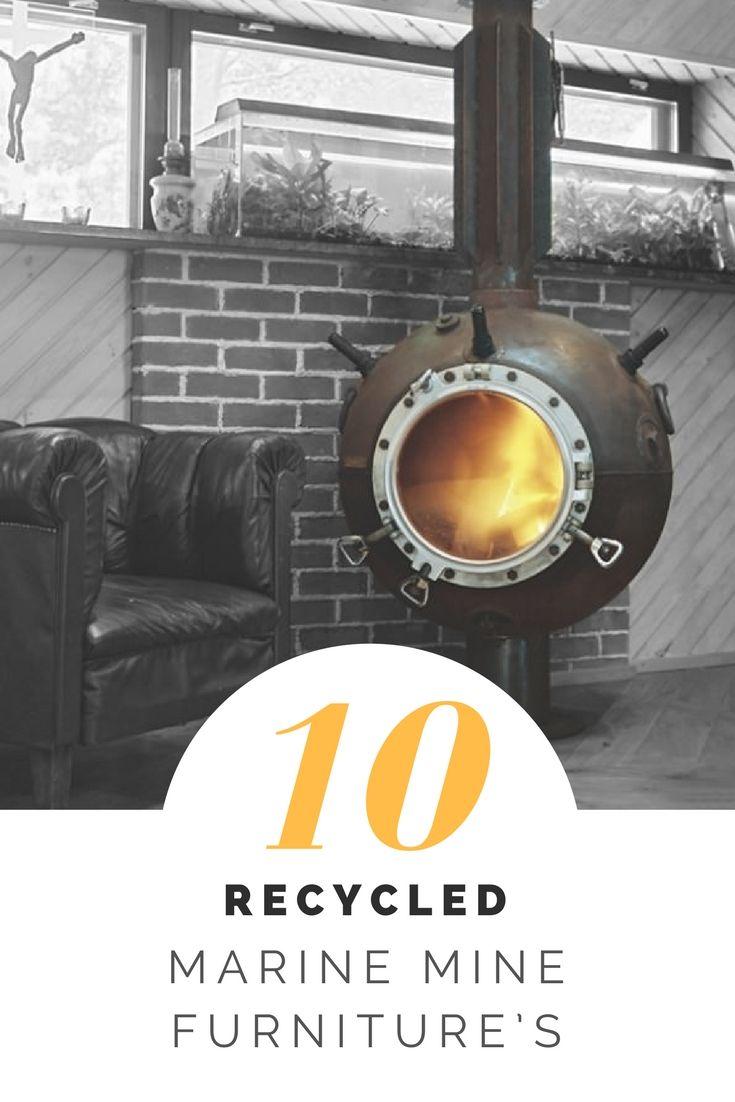 Badezimmer ideen marine  recycled marine mine furnitureus  haus und garten  pinterest