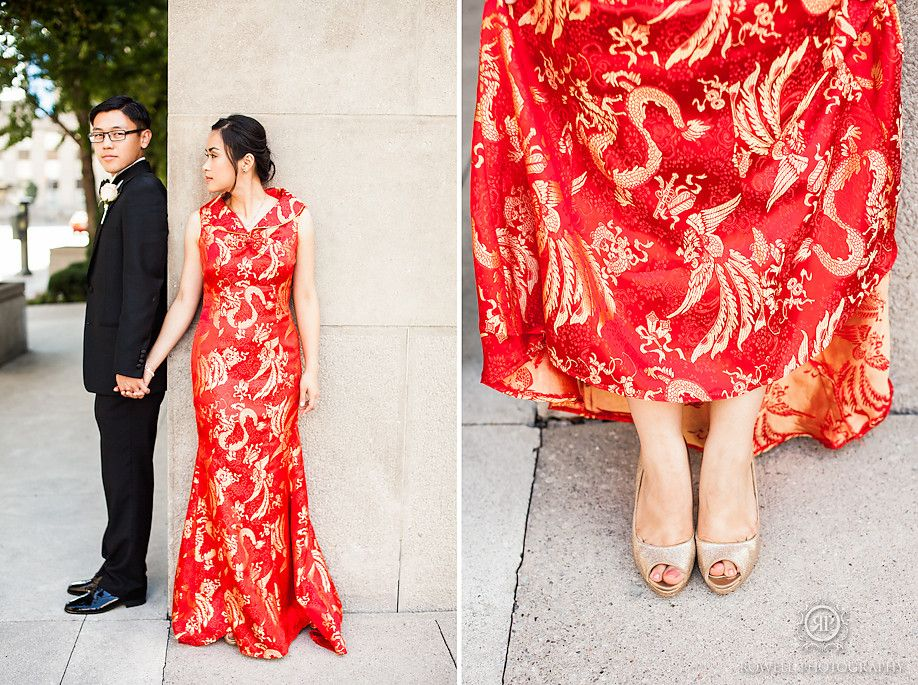 Red Gold Chinese Wedding Dress Metropolitan Hotel Toronto Of Amelia Andrew